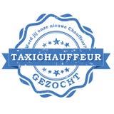 Gewilde taxibestuurder - Nederlandse taalzegel Stock Foto's