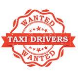 Gewilde taxibestuurders - voor het drukken geschikte zegel/etiket Stock Foto