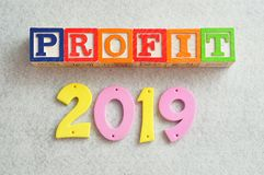 Gewinn 2019 Stockfotos