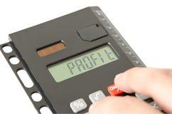 Gewinn auf dem Taschenrechnerschirm Lizenzfreie Stockbilder