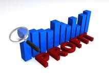Gewinn-Diagramm Lizenzfreie Stockfotos