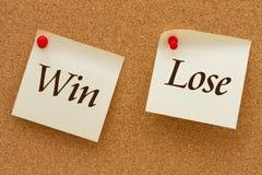 Gewinn gegen verlieren Lizenzfreie Stockbilder