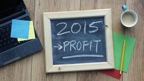 Gewinn im Jahre 2015 Stockfoto