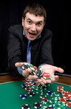 Gewinn im Kasino Stockbilder