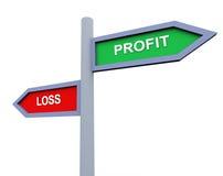 Gewinn- und Verlust Stockfotos