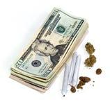 Gewinn vom medizinischen Marihuana Stockbilder