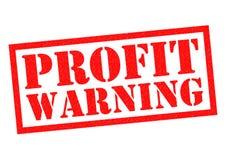GEWINN-WARNING stock abbildung