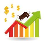 Gewinndesign, Geld und Finanzkonzept Stockfotografie