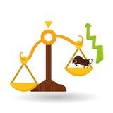 Gewinndesign, Geld und Finanzkonzept Lizenzfreie Stockfotos