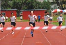 Gewinnen des Rennens Stockfoto