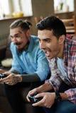 Gewinnen im Videospiel Stockfotos