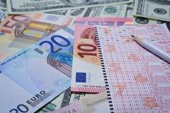 Gewinnen Sie die Lotterie Stockbild