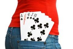 5 gewinnende Karten Stockfotografie