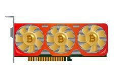 Gewinnende Videokarte Bergmann von GPU Technologieextraktions-Schlüsselwährung Stockfoto