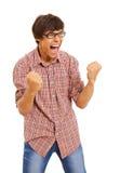 Gewinnender Mann in den Gläsern Lizenzfreie Stockbilder