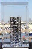 Gewinnender Preis für Volvo-Ozeanrennen Stockbild