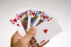 Gewinnendes Set des Schürhakens Hand Stockbild