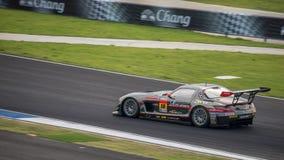 GEWINNER-RN-SPORT SLS DES GEWINNERS in den Rennen GT300 bei Burirum, Thaila Lizenzfreies Stockfoto