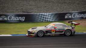 GEWINNER-RN-SPORT SLS DES GEWINNERS in den Rennen GT300 bei Burirum, Thaila Stockbild