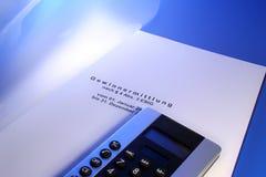 Gewinnermittlung Einkommensteuer Stock Photography