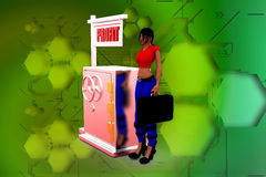 Gewinnillustration der Frau 3D Lizenzfreies Stockfoto