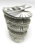 Gewirbelte Dollar Lizenzfreies Stockbild
