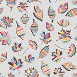 Gewist etnisch gevoerd kleurrijk van het achtergrond bladeren abstract vector naadloos behang patroonontwerp Geometrische bladere stock fotografie