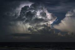 Gewitter über dem Atlantik Lizenzfreie Stockfotos