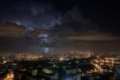 Gewitter über Havana, Kuba Lizenzfreies Stockfoto