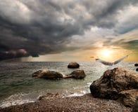 Gewitter über Meer Lizenzfreies Stockfoto