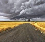Gewitter über Montana. Stockfotos