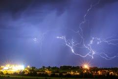 Gewitter über Prag, Tschechische Republik Stockfotos