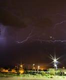 Gewitter in der Nacht Lizenzfreie Stockbilder