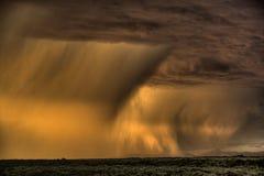 Gewitter - großartiges Tetons NP Stockbild