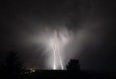 Gewitter I-5 im mittleren Willamette-Tal Stockfotos