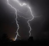 Gewitter I-5 im mittleren Willamette-Tal Stockbilder