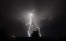 Gewitter I-5 im mittleren Willamette-Tal Stockfotografie