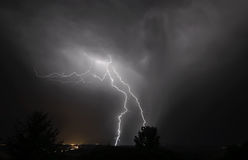 Gewitter I-5 im mittleren Willamette-Tal Stockbild