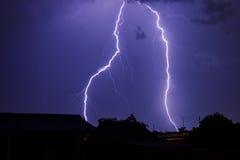 Gewitter im Himmel der Nacht Lizenzfreie Stockfotografie