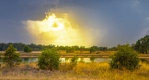 Gewitter im Hinterland bei Dubbo Australien Stockfotos