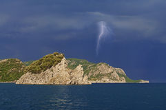 Gewitter im Meer Lizenzfreie Stockfotografie