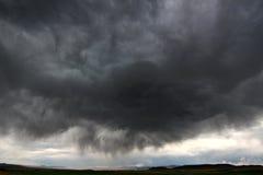 Gewitter in landwirtschaftlichem Idaho Stockfoto