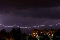 Gewitter mit Blitz Lizenzfreie Stockfotografie