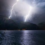 Gewitter mit Blitz Stockfoto