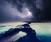 Gewitter mit Blitz Stockbilder