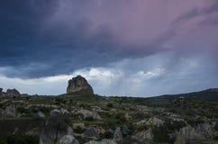 Gewitter mit Blitz Stockbild