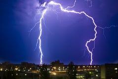 Gewitter nachts Lizenzfreie Stockbilder