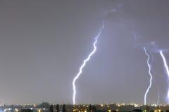 Gewitter nachts Stockfoto