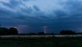 Gewitter und Blitz Stockfotografie