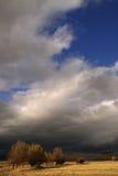 Gewitter und Sonne Stockbild
